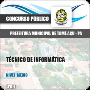Apostila Pref Tomé-Açu PA 2019 Técnico em Informática