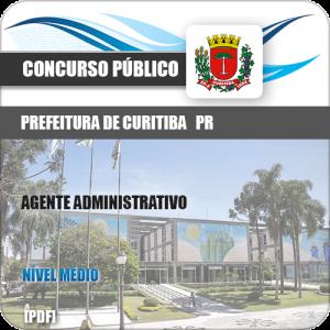 Apostila Prefeitura Curitiba PR 2019 Agente Administrativo