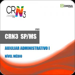 Apostila Concurso CRN 3 SP MS 2019 Auxiliar Administrativo I