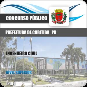 Apostila Prefeitura de Curitiba PR 2019 Engenheiro Civil
