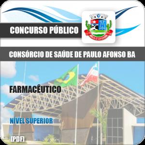 Apostila Consórcio Saúde Paulo Afonso BA 2019 Farmacêutico