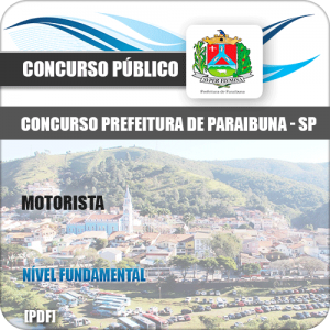 Apostila Concurso Prefeitura Paraibuna SP Motorista