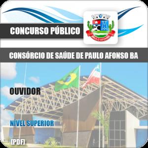 Apostila Consórcio Saúde Paulo Afonso BA 2019 Ouvidor
