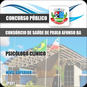 Apostila Consórcio Saúde Paulo Afonso BA 2019 Psicólogo