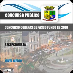 Apostila Concurso CODEPAS 2019 Recepcionista