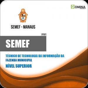 Apostila SEMEF 2019 Técnico de Tecnologia da Informação