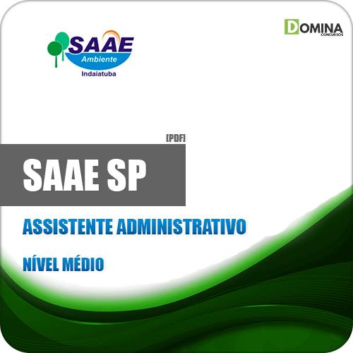 Apostila SAAE de Indaiatuba SP 2019 Assistente Administrativo