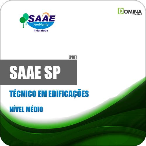 Apostila SAAE de Indaiatuba SP 2019 Técnico em Edificações
