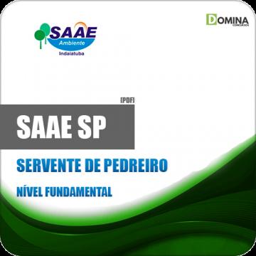 Apostila SAAE de Indaiatuba SP 2019 Servente de Pedreiro