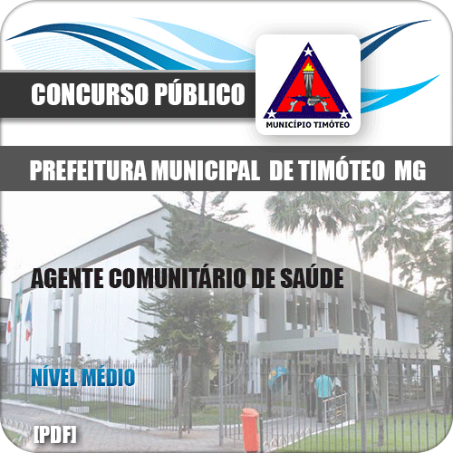 Apostila Pref Timóteo MG 2019 Agente Comunitário de Saúde