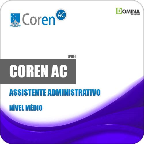 Apostila Concurso COREN AC 2019 Assistente Administrativo