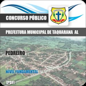 Apostila Concurso Prefeitura Taquarana AL 2019 Pedreiro