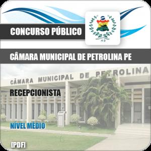 Apostila Concurso Câmara Petrolina PE 2019 Recepcionista