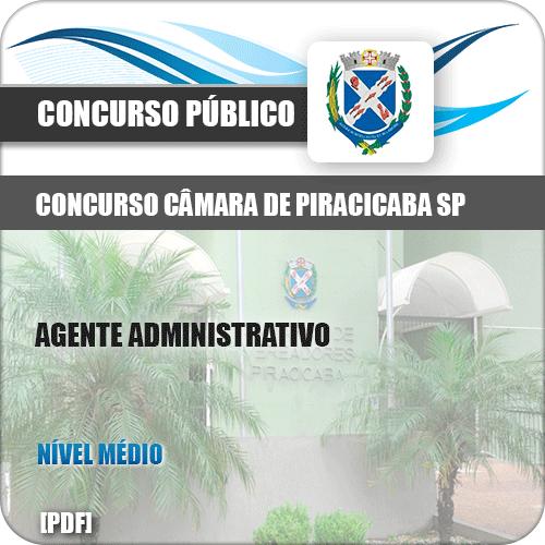 Apostila Câmara Piracicaba SP 2019 Agente Administrativo