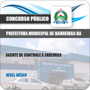 Apostila Pref de Barreiras BA 2019 Agente Controle Endemias