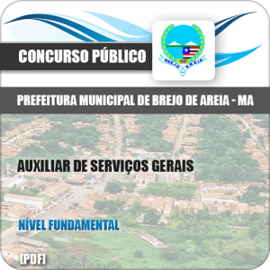 Apostila Pref Brejo de Areia MA 2019 Auxiliar Serviços Gerais
