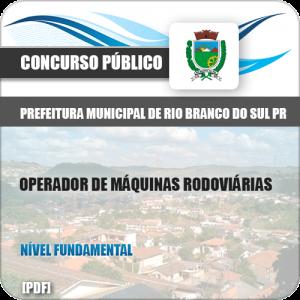 Apostila Rio Branco Sul PR 2019 Operador Máquinas Rodoviárias