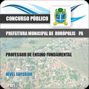 Apostila Pref Rurópolis PA 2019 Prof Ensino Fundamental