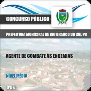 Apostila Pref Rio Branco Sul PR 2019 Agt Combate Endemias