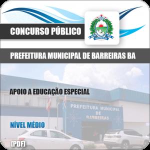 Apostila Pref de Barreiras BA 2019 Apoio Educação Especial