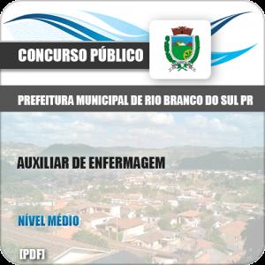 Apostila Rio Branco Sul PR 2019 Auxiliar Enfermagem