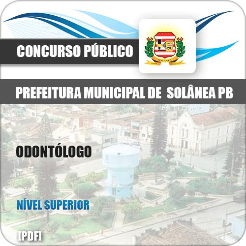 Apostila Concurso Pref de Solânea PB 2019 Odontólogo