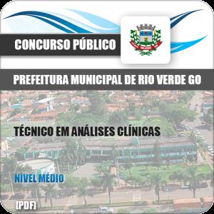 Apostila Pref Rio Verde GO 2019 Técnico em Análises Clínicas