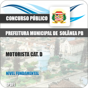 Apostila Concurso Pref Solânea PB 2019 Motorista Cat. D