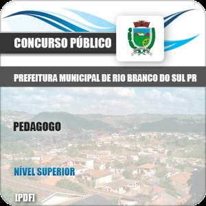Apostila Pref Rio Branco Sul PR 2019 Pedagogo