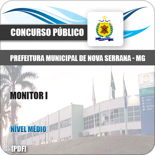 Apostila Pref Nova Serrana MG 2019 Monitor I