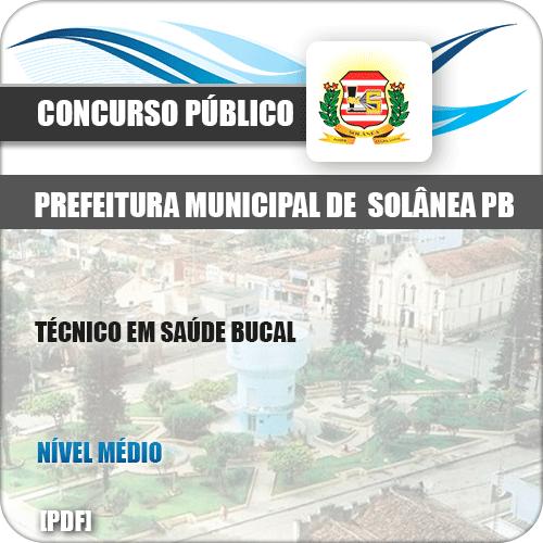 Apostila Pref Solânea PB 2019 Técnico em Saúde Bucal