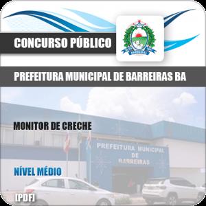 Apostila Pref Barreiras BA 2019 Monitor de Creche