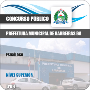 Apostila Pref de Barreiras BA 2019 Psicólogo