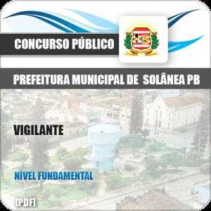 Apostila Concurso Pref Solânea PB 2019 Vigilante