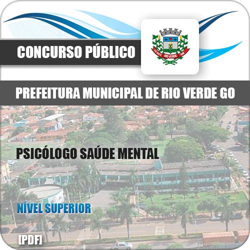 Apostila Pref Rio Verde GO 2019 Psicólogo Saúde Mental