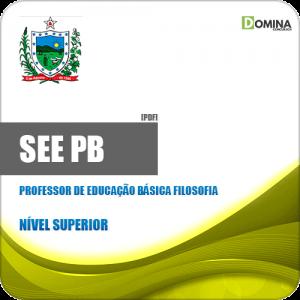 Apostila SEE PB 2019 Professor Ed Básica Filosofia