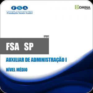 Apostila Concurso FSA SP 2019 Auxiliar de Administração I
