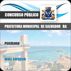 Apostila Concurso Prefeitura Salvador BA 2019 Psicólogo