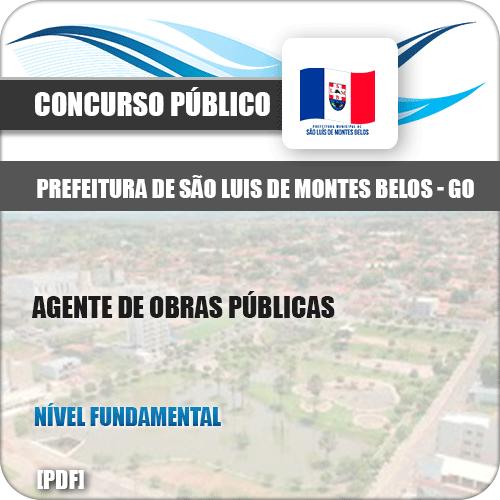 Apostila São Luis Montes Belos GO 2019 Agente Obras Públicas