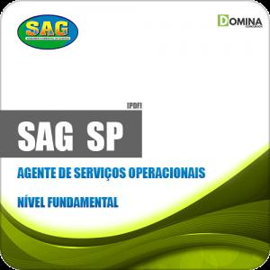 Apostila SAG em Guaraçaí SP 2019 Agente de Serviços Operacionais