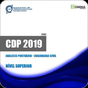 Apostila CDP do Pará 2019 Analista Portuário Engenharia Civil