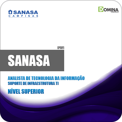 Apostila SANASA SP 2019 01 Analista TI Suporte Infraestrutura Tl