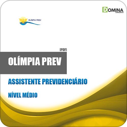 Apostila Olímpia Prev SP 2019 Assistente Previdenciário
