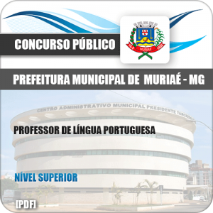 Apostila Pref Muriaé MG 2019 Professor de Língua Portuguesa