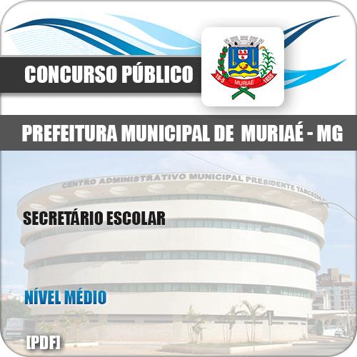 Apostila Concurso Pref Muriaé MG 2019 Secretário Escolar