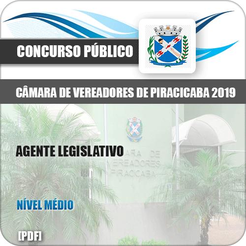 Apostila Câmara Piracicaba SP 2019 Agente Legislativo
