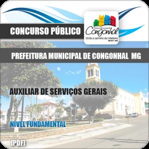 Apostila Pref Congonhal MG 2019 Auxiliar de Serviços Gerais
