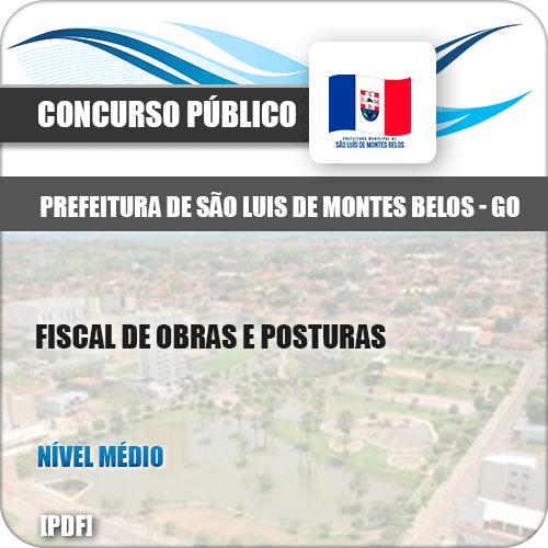 Apostila São Luis Montes Belos GO 2019 Fiscal Obras Posturas
