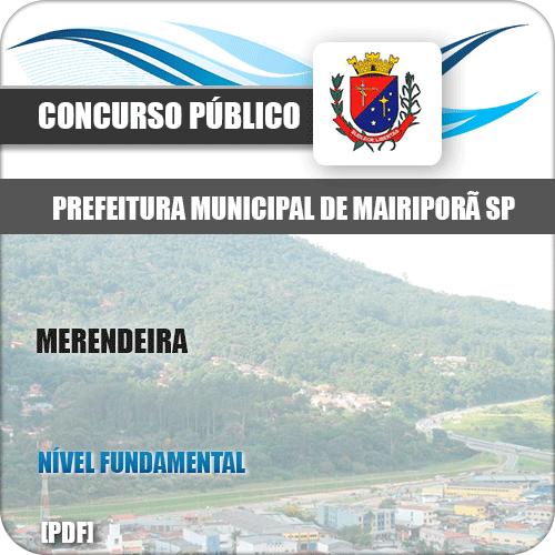 Apostila Concurso Pref Mairiporã SP 2019 Merendeira