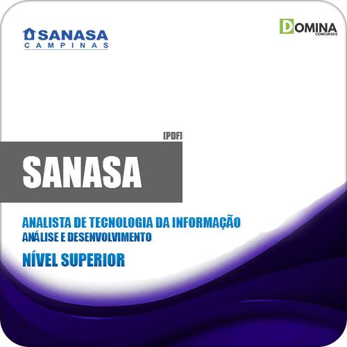 Apostila SANASA SP 2019 Analista TI Análise e Desenvolvimento